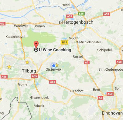 Locatie en route naar U Wise Inspires in Udenhout